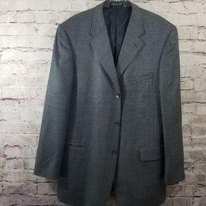Izod Wool Blend Black Check Suit Jacket